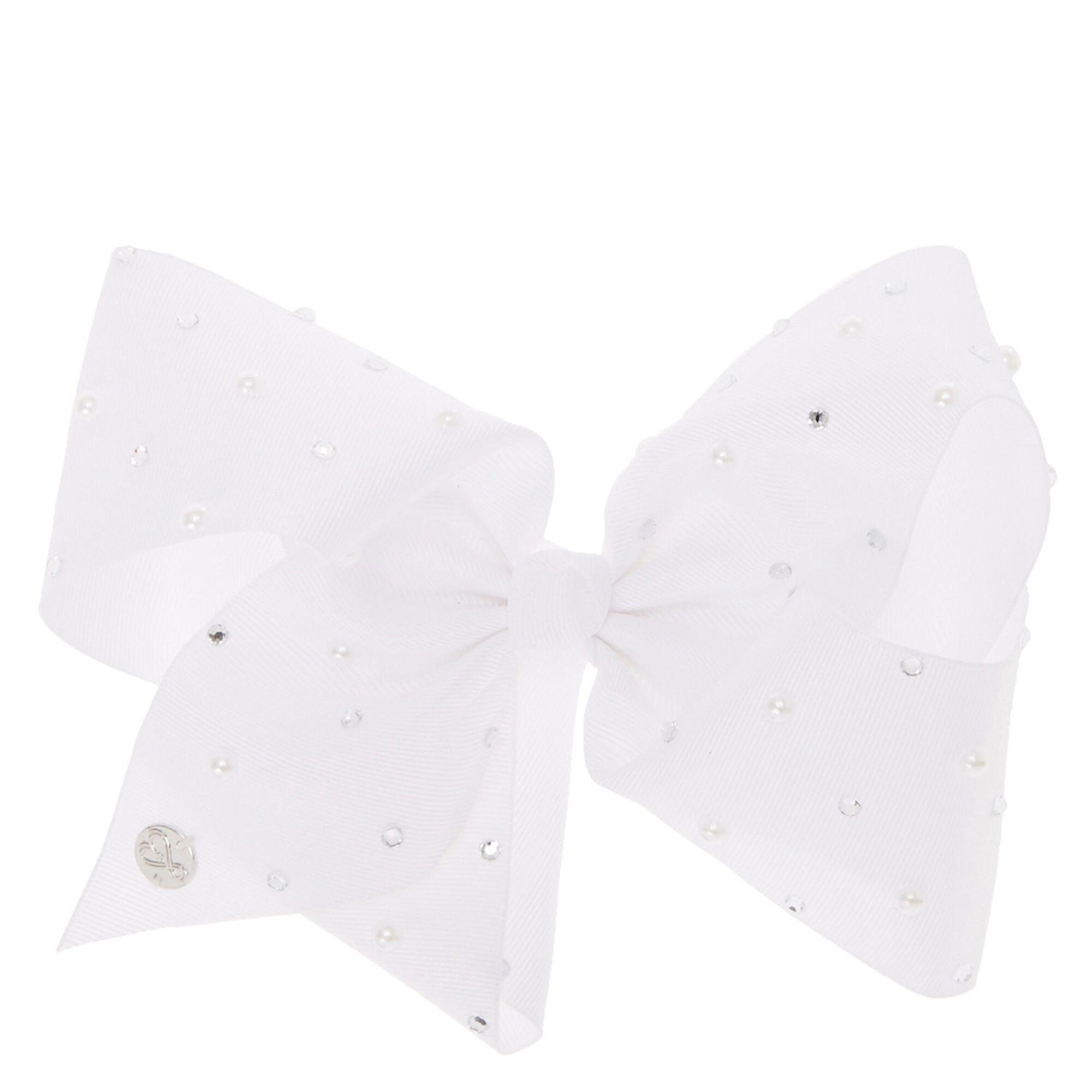 Jojo Siwa Large White Pearl Signature Hair Bow,