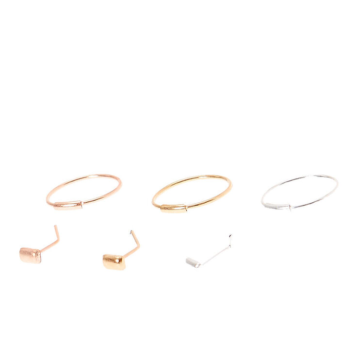 Stud and Hoop Nose Jewels,