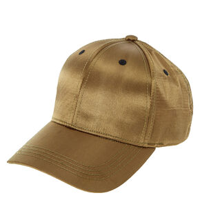 Green Satin Baseball Cap,