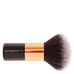 Black & Rose Gold Dual-End Short Kabuki Make Up Brush,