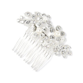 Rhinestone Vines and Leaves Hair Comb,