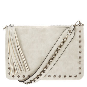 Grey Guitar Strap Crossbody Purse,