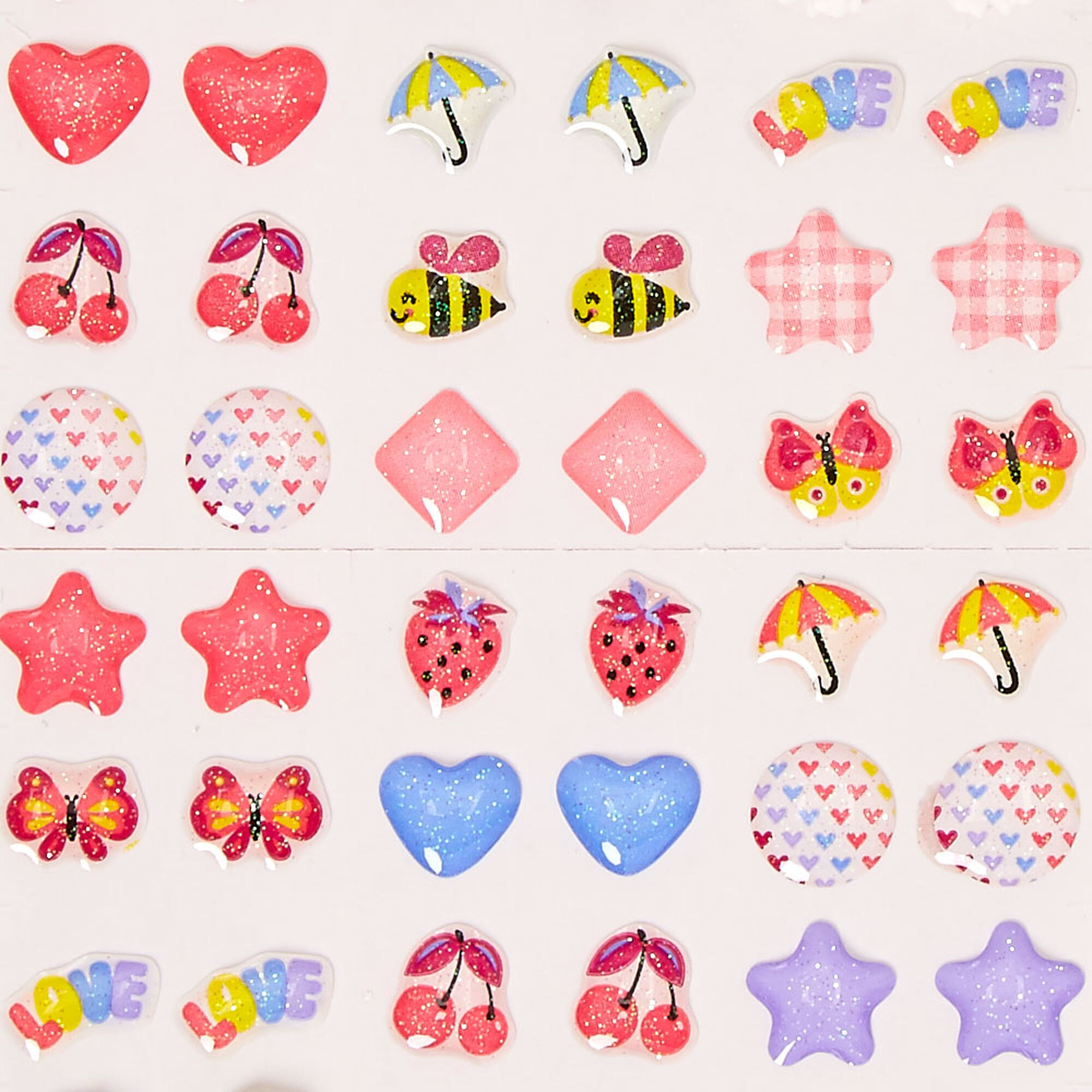 kids april showers stickon earrings claires