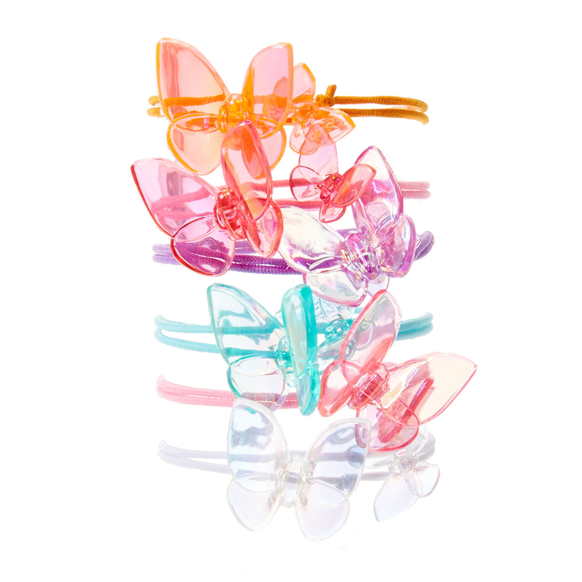 kids 6 pack pretty pastel butterfly hair ties s us