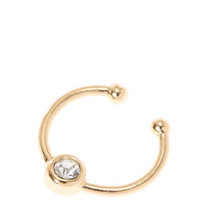 Gold Toned Faux Nose Ring,