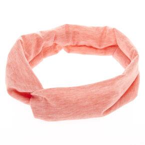 Marled Coral Headwrap,