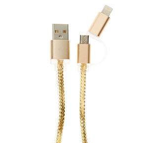 Metallic Gold USB Charger,