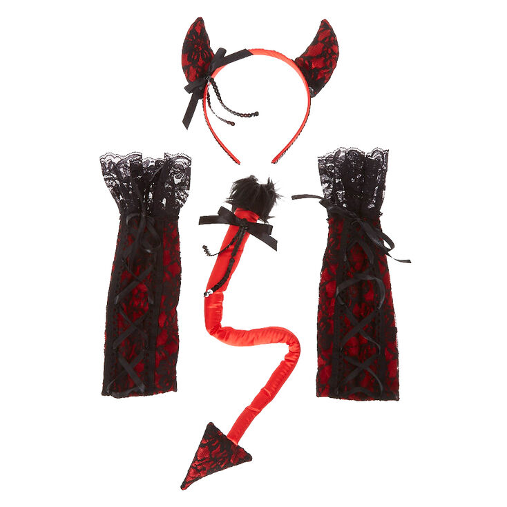 3 Piece Devil Lace Costume Kit,