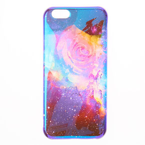 Blue Holographic Rose Phone Case,