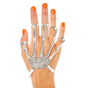 Skeleton Hand Bracelet With Ring Cuffs,