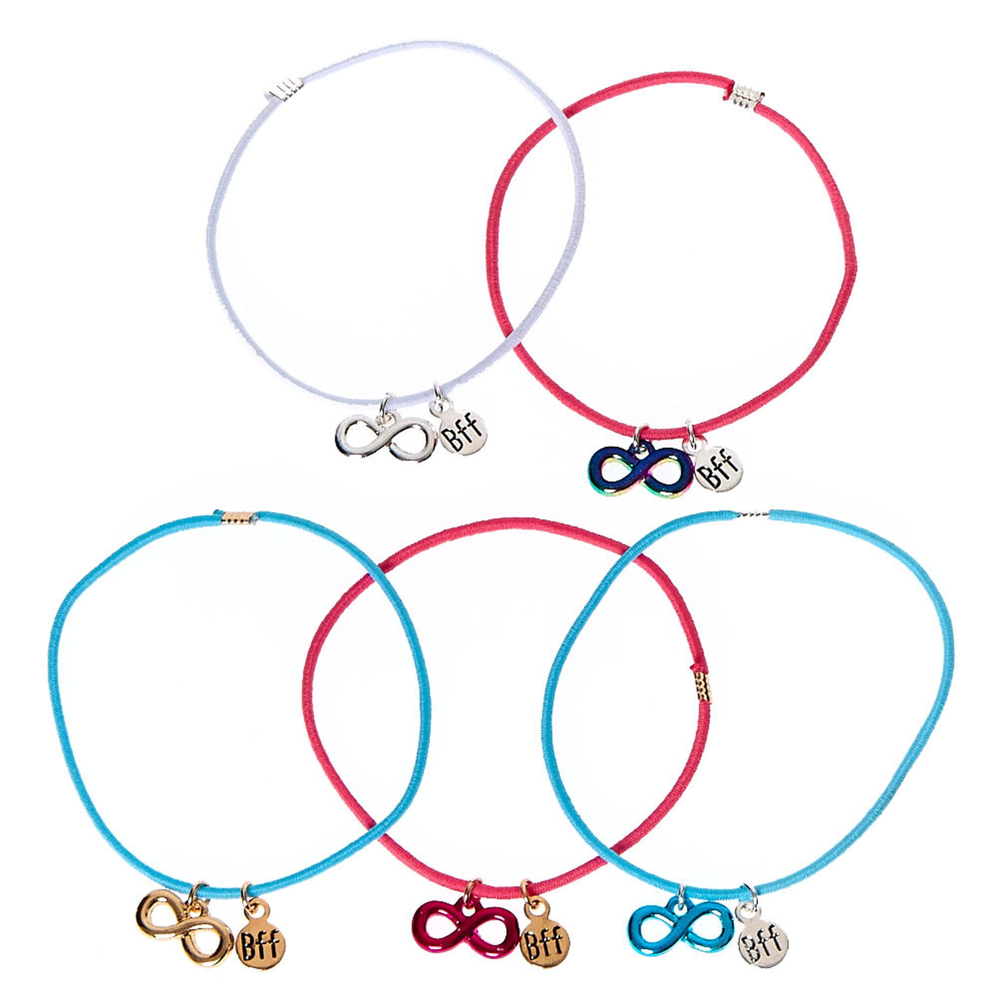 bracelets d 39 amiti en corde avec symbole de l 39 infini claire 39 s fr. Black Bedroom Furniture Sets. Home Design Ideas