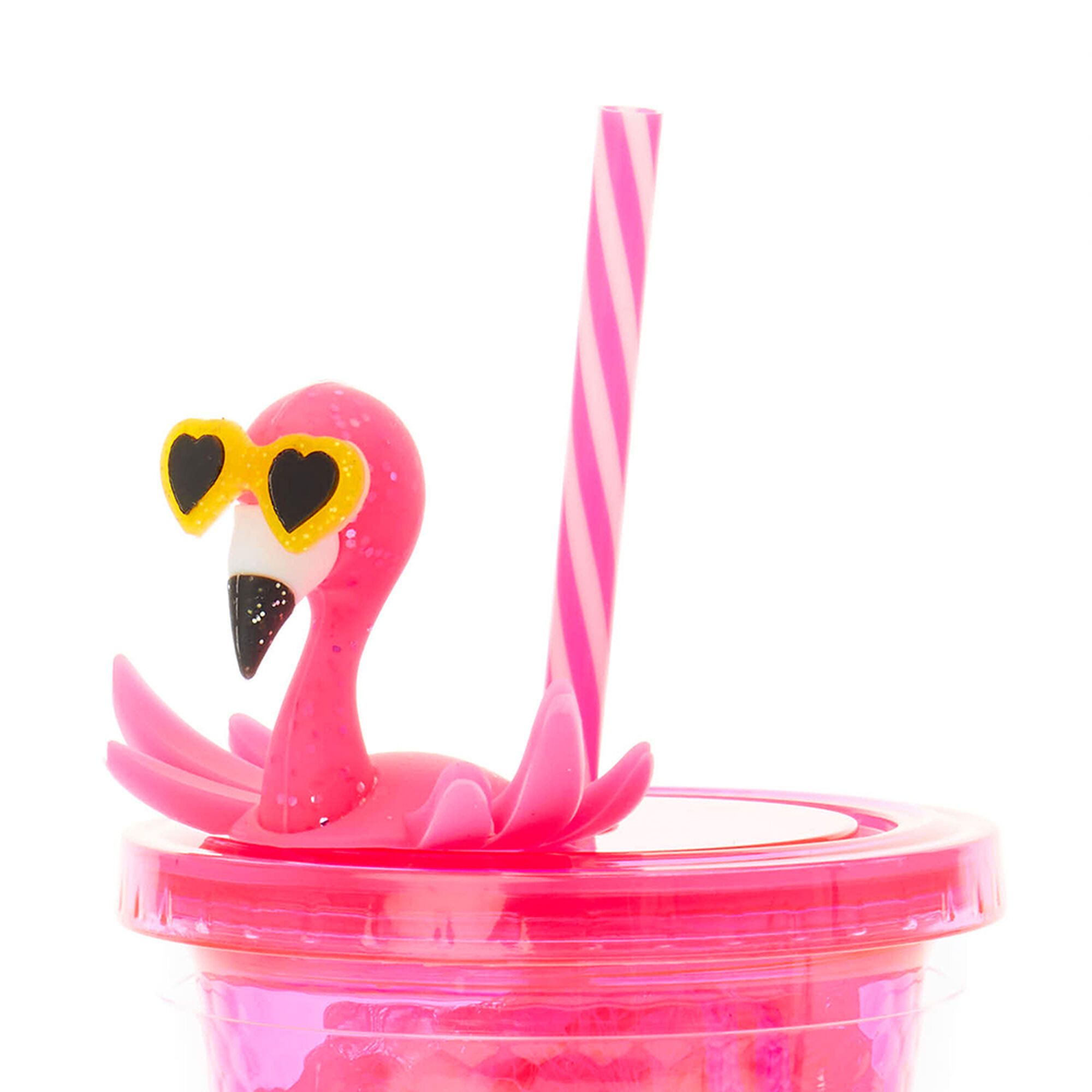 Bright Pink Flamingo Tumbler Set,
