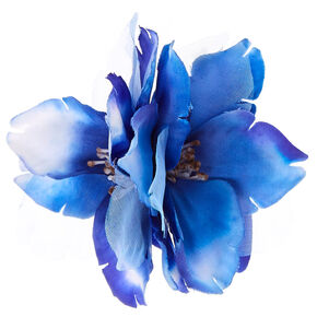 Double Blue Flower Hair Clip,
