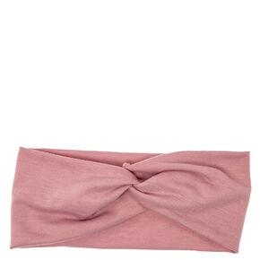 Mauve Wide Jersey Headwrap,