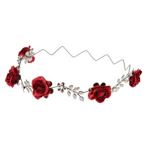 Burgundy Bloom Flower Crown,