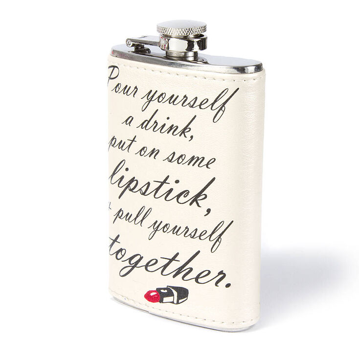 Put on Some Lipstick Drink Flask,