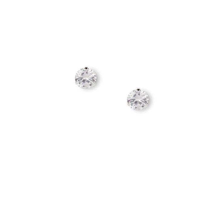 6431f8418723 10MM Round Cubic Zirconia Martini Set Stud Earrings