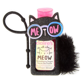 It's All about Meow Holder with Strawberry Sugar Scented Anti-Bacterial Hand Sanitizer,