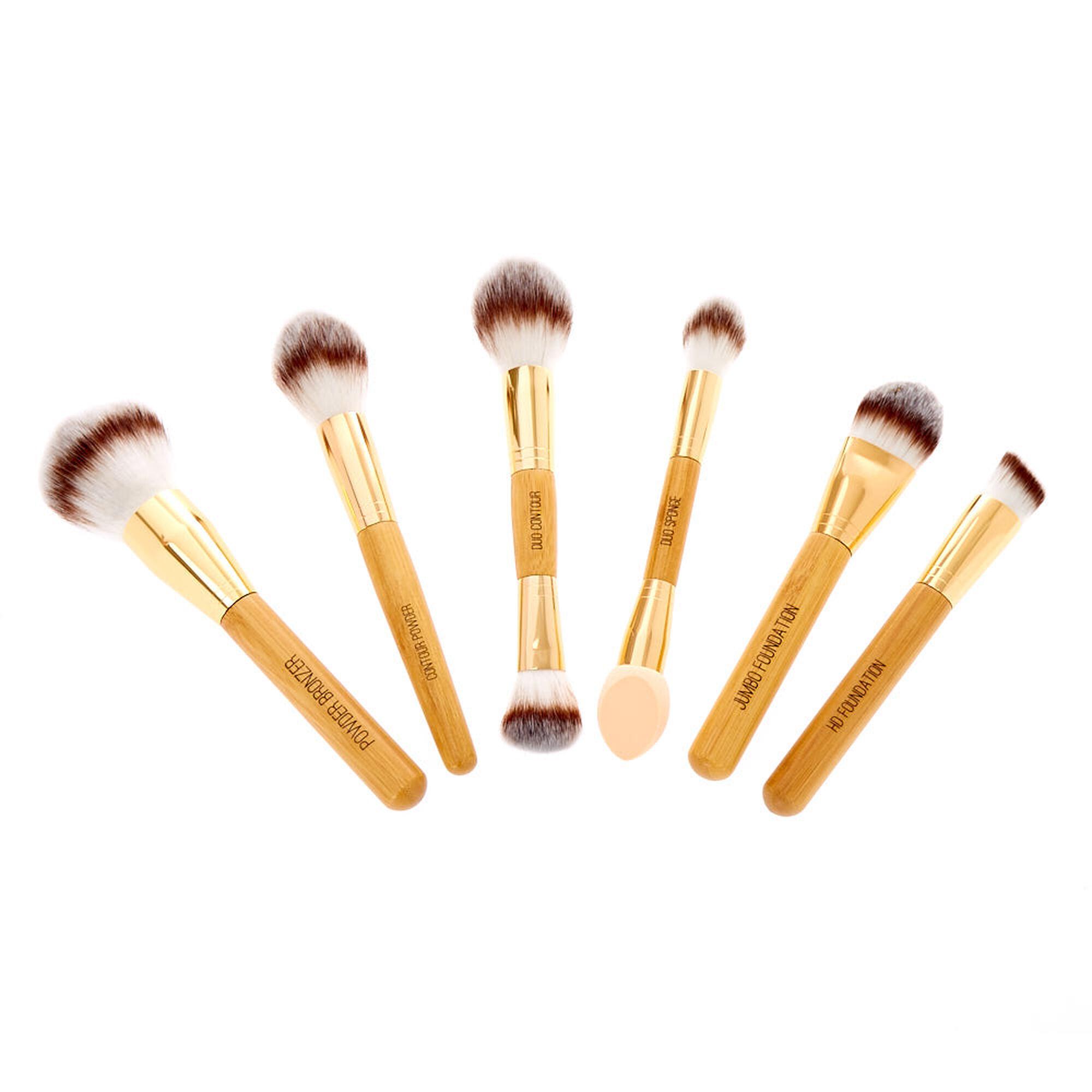bamboo makeup brushes. 6 pack makeup bamboo brush gift set, brushes