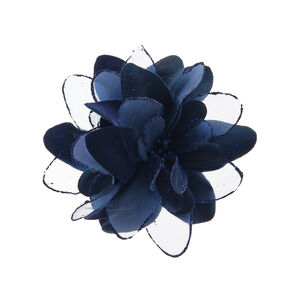 Navy Double Lily Hair Clip,