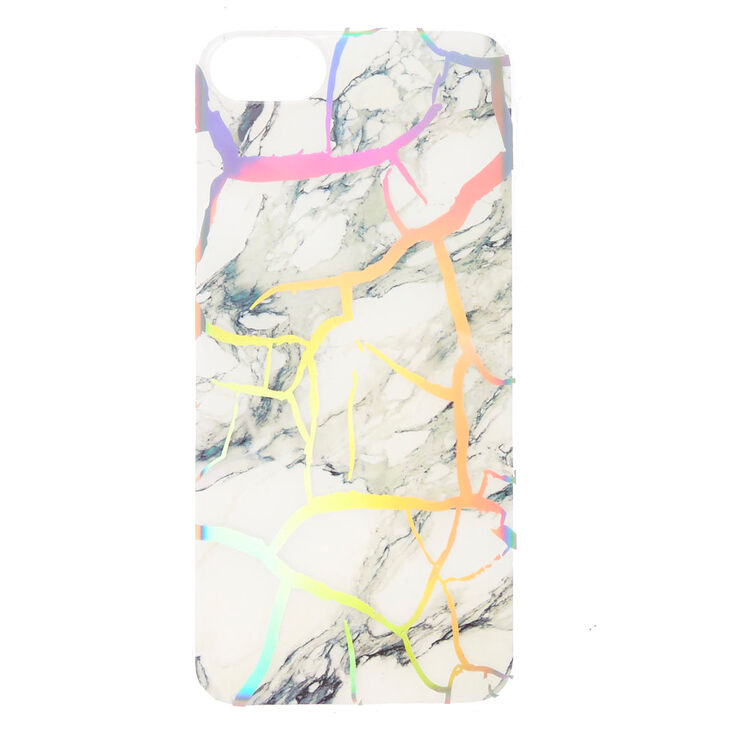 Holographic Cracked Marble Phone Case,