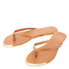 Brown Flip Flops,