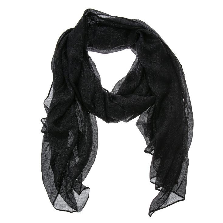 Iridescent Black Oblong Scarf,