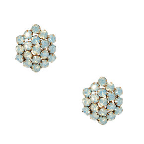 Rustic Oversize Crystal Stud Earrings,