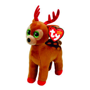 TY Beanie Baby Tinsel the Reindeer Plush Toy,