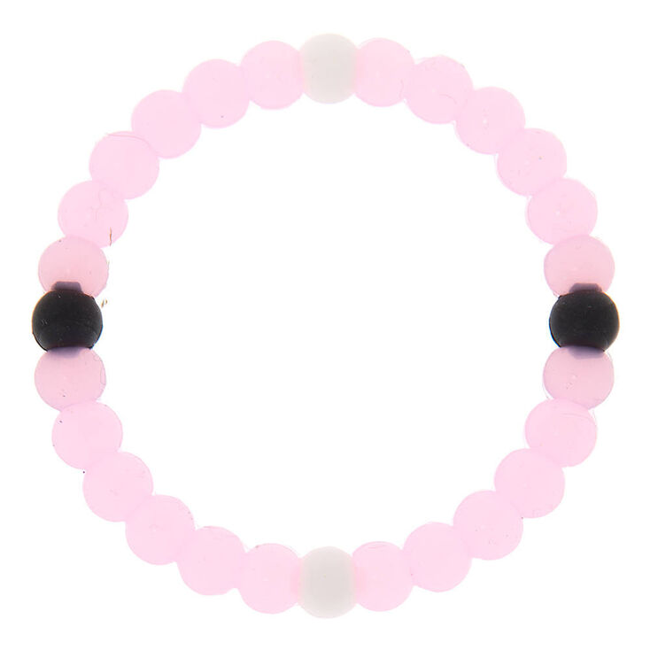 Pink with Black and White Accents Fortune Bracelet,