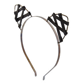 Faux Leather Cat Ears Headband,