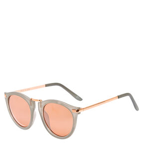 Mod Round Gray Sunglasses,