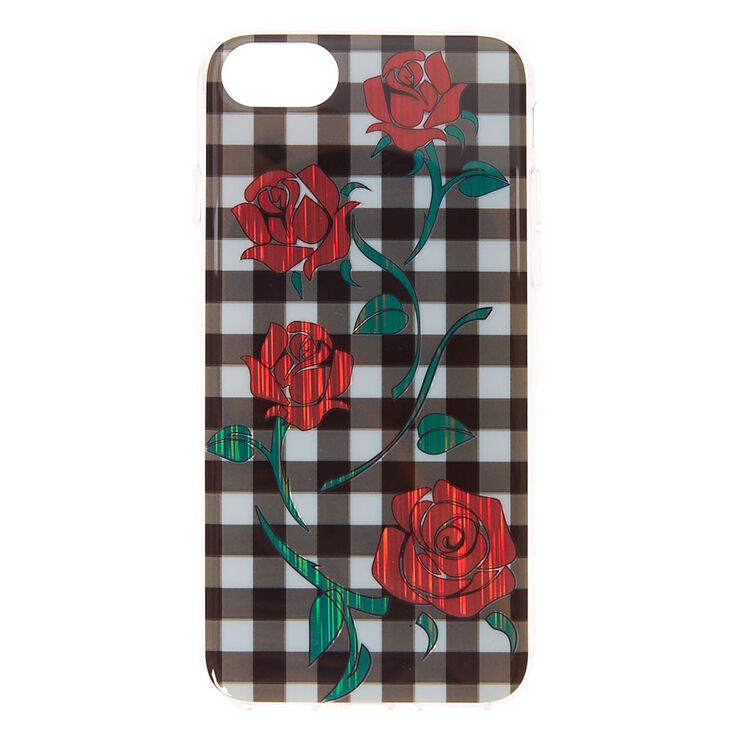 Gingham and Roses Phone Case,