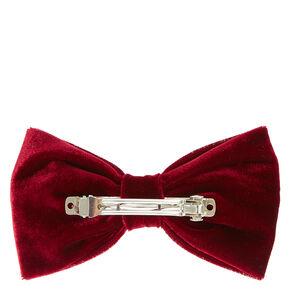 Burgundy Velvet Bow,