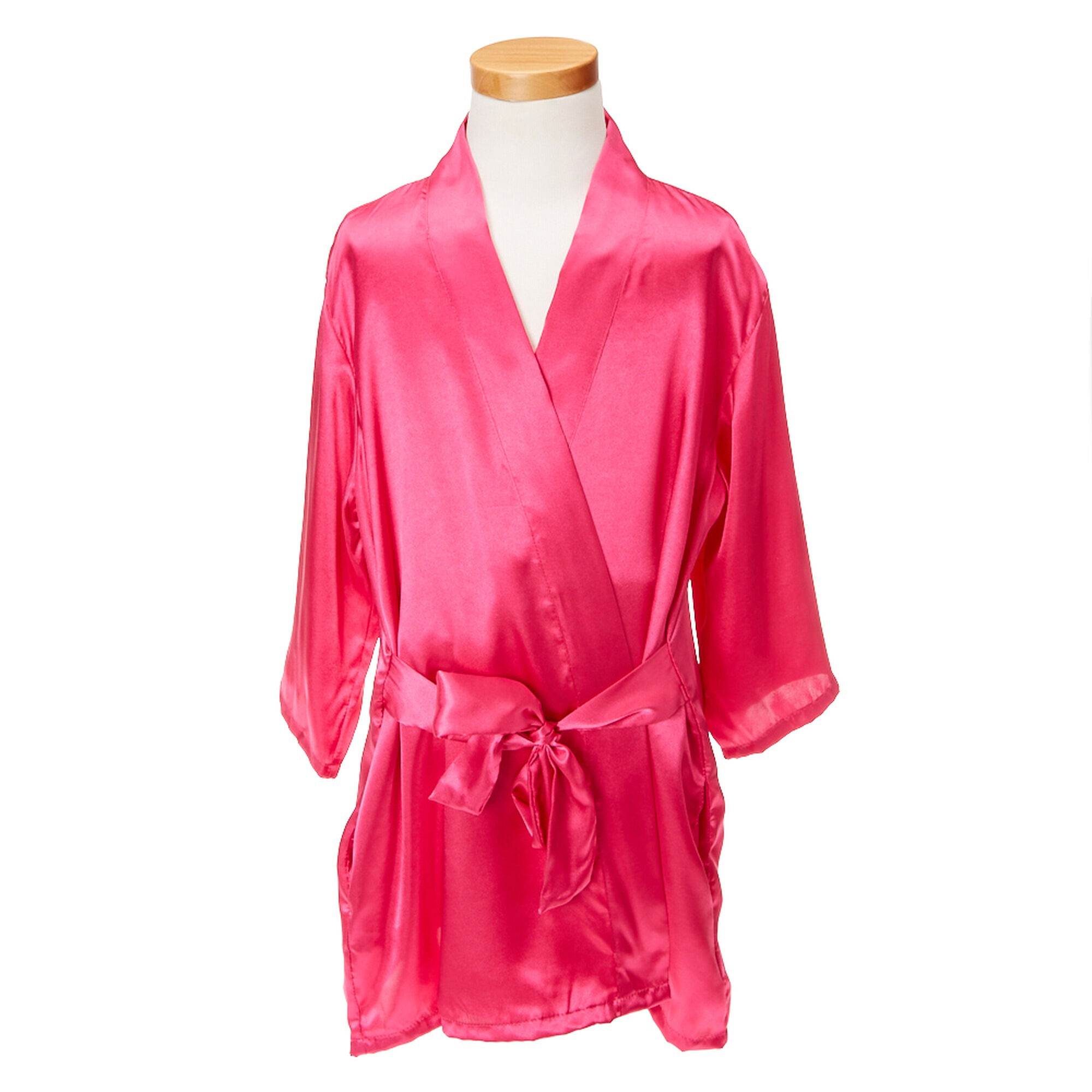 Kids hot pink satin flower girl robe claires ca kids hot pink satin flower girl robe dhlflorist Gallery
