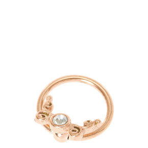 Rose Gold Butterfly Lip Frenulum Ring,