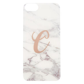 Marbled C Initial Phone Case,