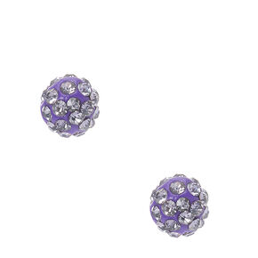 Dark Purple Fireball Stud Earrings,