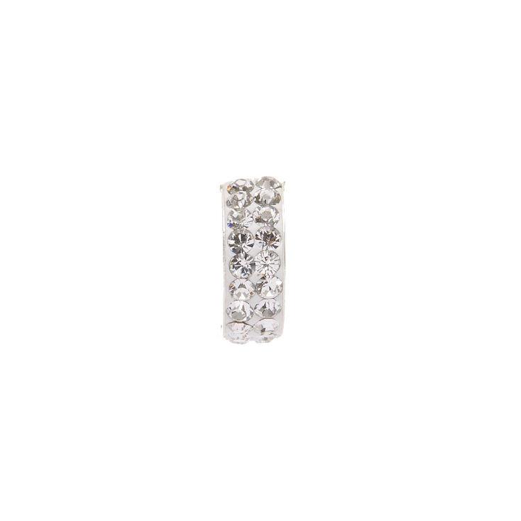 925 Sterling Silver Crystal Hoop Earrings,