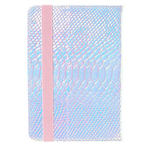 "Pink Holographic Snake Skin 7-8"" Tablet Case,"