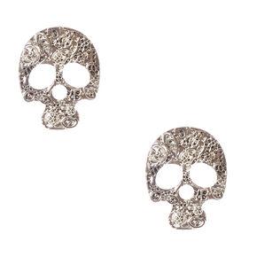 Silver Metal Skull Earrings,