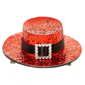 Sequin Santa Hat Fascinator Clip,