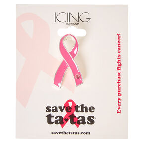 Save the Ta-tas Pink Ribbon Pin,