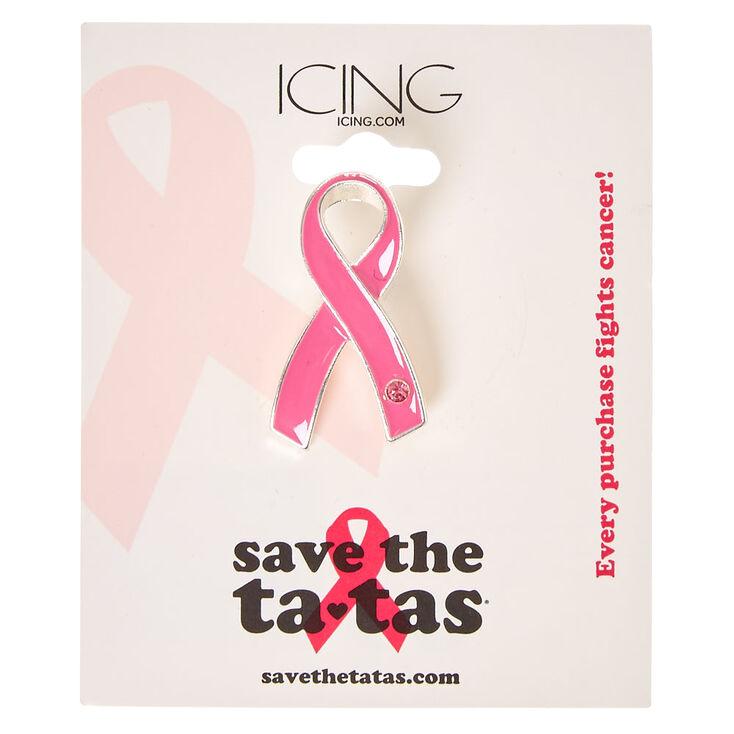 Save the Ta-tas Pink Ribbon Pin,