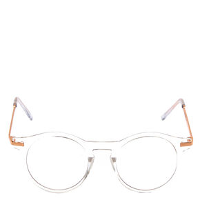 Rose Gold and Clear Round Frames,