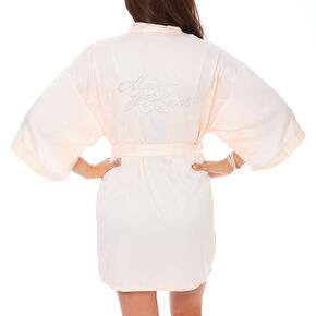 Light Pink Satin and Crystal Matron of Honor Robe,