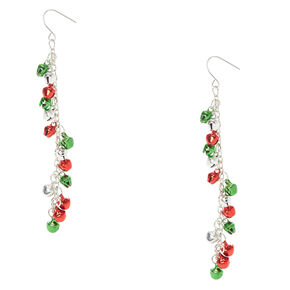 Long Jingle Bell Holiday Earrings,
