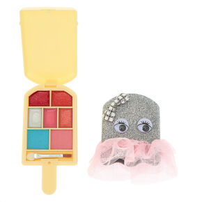 Pucker Pops Silver Glitter Tutu Makeup Set,
