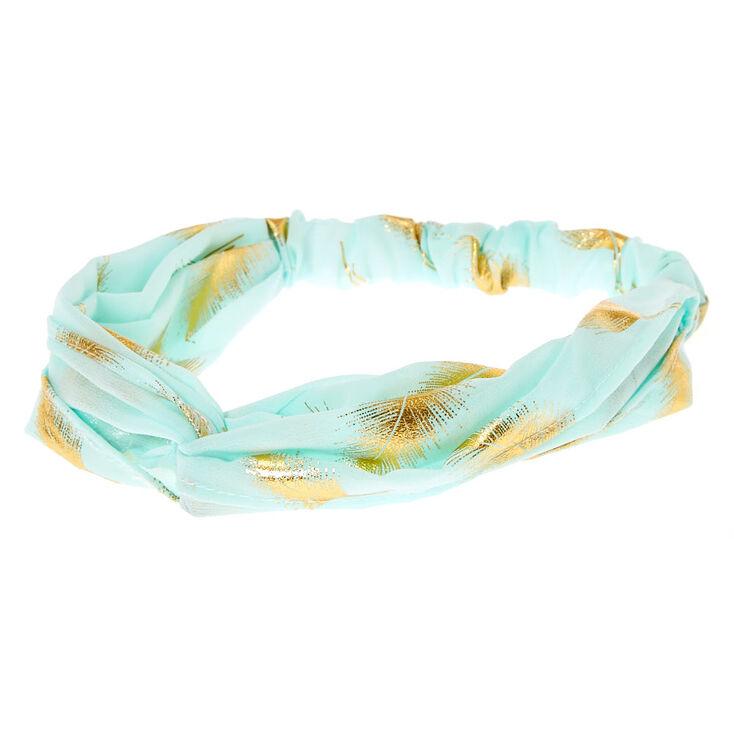 Gold Leaf Mint Headwrap,