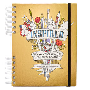 Inspired Hand-Crafted Coloring Journal,